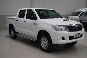 2014 Toyota Hilux KUN26R MY14 SR Double Cab White 5 Speed Automatic Utility Kenwick Gosnells Area Preview
