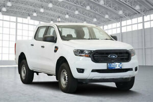 2018 Ford Ranger PX MkIII 2019.00MY XL Pick-up Double Cab White 6 Speed Sports Automatic Utility Victoria Park Victoria Park Area Preview