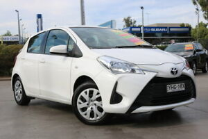 2017 Toyota Yaris NCP130R Ascent White 5 Speed Manual Hatchback Penrith Penrith Area Preview