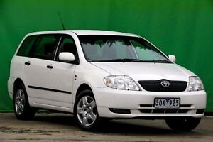 2003 Toyota Corolla ZZE122R Ascent White 5 Speed Manual Wagon Ringwood East Maroondah Area Preview