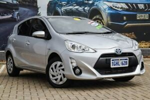 2017 Toyota Prius c NHP10R E-CVT Silver 1 Speed Constant Variable Hatchback Hybrid Morley Bayswater Area Preview