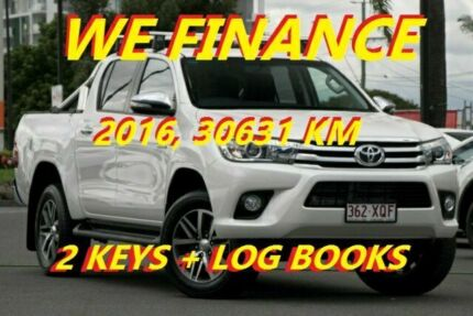 2016 Toyota Hilux GUN126R SR5 Double Cab Pearl White 6 Speed Sports Automatic Utility