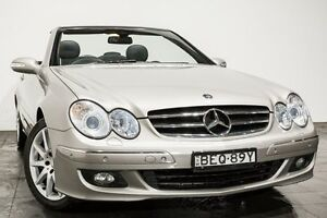 2007 Mercedes-Benz CLK350 A209 MY07 Avantgarde Silver 7 Speed Sports Automatic Cabriolet Rozelle Leichhardt Area Preview