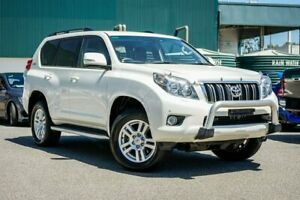 2010 Toyota Landcruiser Prado GRJ150R VX White 5 Speed Sports Automatic Wagon