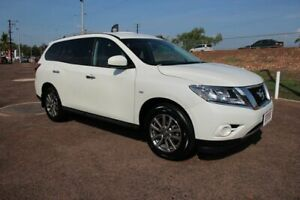 2015 Nissan Pathfinder R52 MY15 ST X-tronic 2WD White 1 Speed Continuous Variable Wagon The Gardens Darwin City Preview