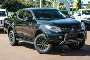 2018 Mitsubishi Triton MQ MY18 Blackline Double Cab Black 5 Speed Sports Automatic Utility Cannington Canning Area Preview