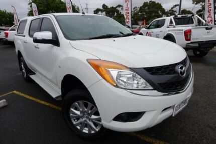 2015 Mazda BT-50 UP0YF1 XTR White 6 Speed Manual Utility Hoppers Crossing Wyndham Area Preview