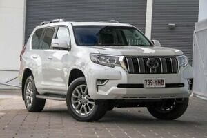 2018 Toyota Landcruiser Prado GDJ150R Kakadu White 6 Speed Sports Automatic Wagon Springwood Logan Area Preview