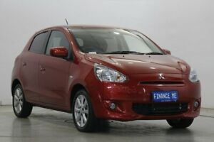 2016 Mitsubishi Mirage LA MY15 ES Red 1 Speed Constant Variable Hatchback Victoria Park Victoria Park Area Preview
