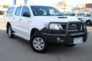 2013 Toyota Hilux KUN26R MY14 SR Double Cab Glacier White 5 Speed Manual Utility Northbridge Perth City Area Preview
