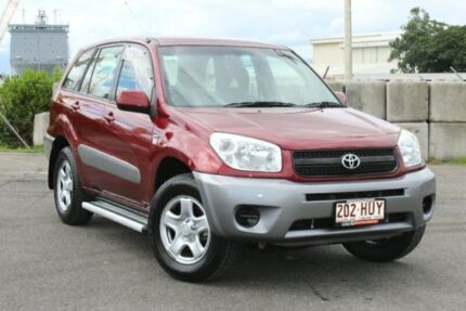 2004 Toyota RAV4 ACA23R CV Red 5 Speed Manual Wagon Portsmith Cairns City Preview