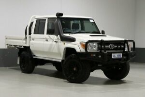 2016 Toyota Landcruiser VDJ79R MY12 Update GXL (4x4) White 5 Speed Manual Double Cab Chassis Bentley Canning Area Preview