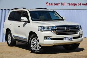 2016 Toyota Landcruiser VDJ200R Sahara White 6 Speed Sports Automatic Wagon