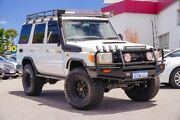 2009 Toyota Landcruiser VDJ76R Workmate White 5 Speed Manual Wagon Myaree Melville Area Preview