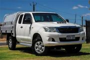 2011 Toyota Hilux KUN26R MY10 SR Xtra Cab White 5 Speed Manual Cab Chassis Wangara Wanneroo Area Preview