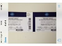 2 ANTHONY JOSHUA V ERIC MOLINA TICKETS £250 THE PAIR COLLECTION BIRMINGHAM / POSTED SPECIAL DELIVERY