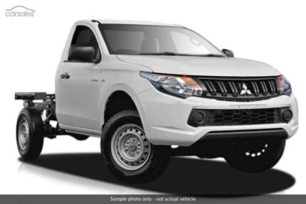 2017 Mitsubishi Triton White Sports Automatic Cab Chassis Heidelberg Heights Banyule Area Preview