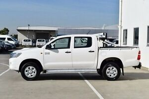 2013 Toyota Hilux KUN26R MY12 SR Double Cab White 4 Speed Automatic Utility Pakenham Cardinia Area Preview