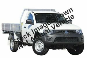 2012 Mitsubishi Triton MN MY12 GL 4x2 White 5 Speed Manual Cab Chassis Slacks Creek Logan Area Preview