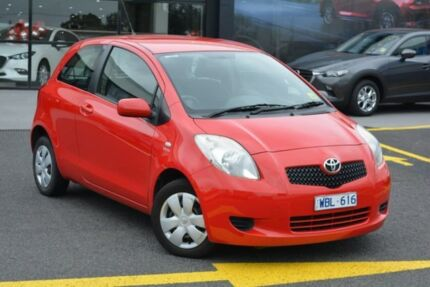 2007 Toyota Yaris NCP90R YR Red 4 Speed Automatic Hatchback Burwood Whitehorse Area Preview