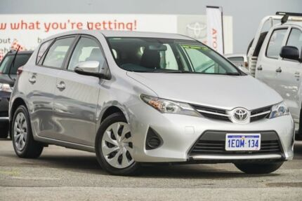 2014 Toyota Corolla ZRE182R Ascent S-CVT Silver Pearl 7 Speed Constant Variable Hatchback