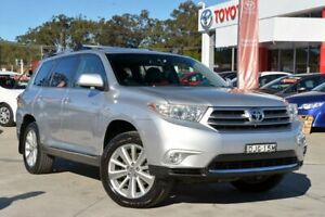 2013 Toyota Kluger GSU45R MY13 Upgrade Grande (4x4) Silver 5 Speed Automatic Wagon Wyoming Gosford Area Preview