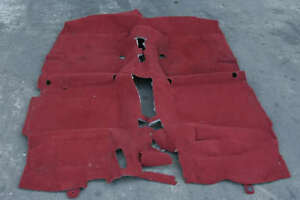 Tapis JDM fond rouge Civic EP3 02-05 type R K20A iVtec