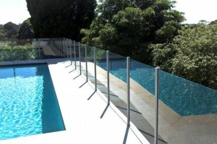 Glass Pool Fencing with Posts