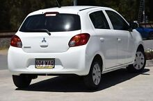 2015 Mitsubishi Mirage LA MY15 ES White 1 Speed Constant Variable Hatchback Helensvale Gold Coast North Preview