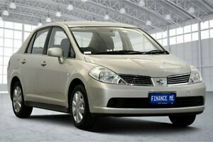2009 Nissan Tiida C11 MY07 ST Beige 6 Speed Manual Sedan Victoria Park Victoria Park Area Preview