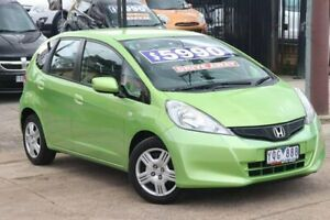 2011 Honda Jazz GE MY11 GLi Green 5 Speed Manual Hatchback Watsonia Banyule Area Preview