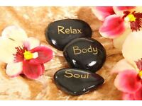 Relaxing professional body massage