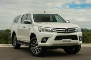 2017 Toyota Hilux GUN126R SR5 Double Cab White 6 Speed Sports Automatic Utility Somersby Gosford Area Preview