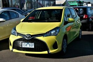 2015 Toyota Yaris NCP130R Ascent Yellow 5 Speed Manual Hatchback Cheltenham Kingston Area Preview