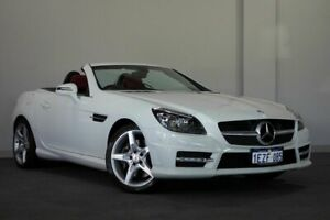 2012 Mercedes-Benz SLK350 R172 BlueEFFICIENCY 7G-Tronic + White 7 Speed Sports Automatic Roadster
