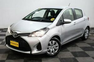 2016 Toyota Yaris NCP130R Ascent Silver 5 Speed Manual Hatchback