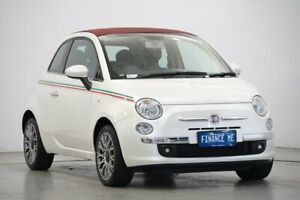 2011 Fiat 500C Series 1 Dualogic White 5 Speed Sports Automatic Single Clutch Convertible