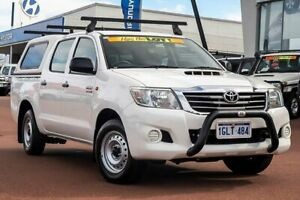 2012 Toyota Hilux KUN16R MY12 SR Double Cab 4x2 Glacier White 5 Speed Manual Utility