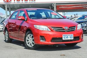2011 Toyota Corolla ZRE152R MY11 Ascent Wildfire 6 Speed Manual Sedan
