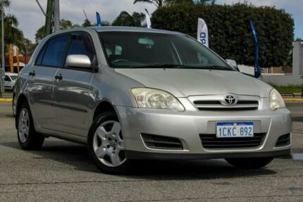 2006 Toyota Corolla ZZE122R 5Y Ascent Silver 5 Speed Manual Hatchback Maddington Gosnells Area Preview