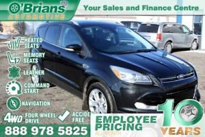 2014 Ford Escape Titanium - Accident Free! w/Leather, Nav, 4WD