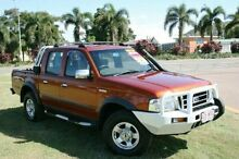 2004 Ford Courier PG XLT Crew Cab Hurricane Brown 5 Speed Manual Utility Townsville Townsville City Preview