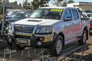 2015 Toyota Hilux KUN26R MY14 SR5 Double Cab White 5 Speed Manual Utility Monkland Gympie Area Preview