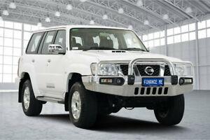 2013 Nissan Patrol Y61 GU 9 ST Plus White 5 Speed Manual Wagon