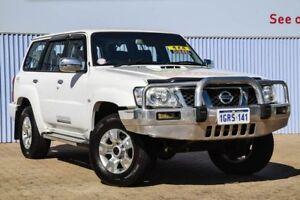 2013 Nissan Patrol Y61 GU 9 ST White 4 Speed Automatic Wagon