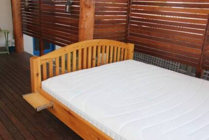 Solid timber king size bed with German slates/mattress Mount Claremont Nedlands Area Preview