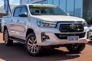 2018 Toyota Hilux GUN126R SR5 Double Cab Crystal Pearl 6 Speed Sports Automatic Utility
