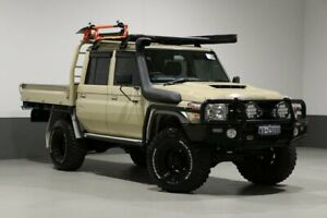 2018 Toyota Landcruiser VDJ79R MY18 GXL (4x4) Sandy Taupe 5 Speed Manual Double Cab Chassis