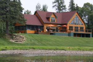 WATERFRONT! Lodge-style home!