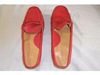 Slip-on Leather shoes - red